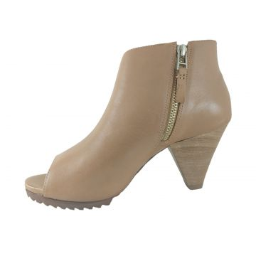 Ankle Boot TopGrife Dorsey Couro Caramelo TopGrife