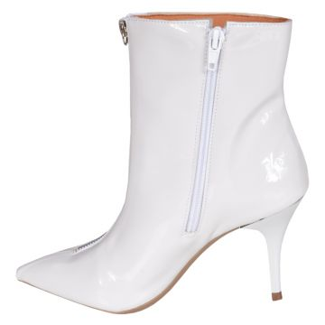 Bota Cano Curto Factor Fashion Zipper 1101 Branco Factor