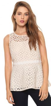 Blusa Banana Republic Peplum Rosa Banana Republic