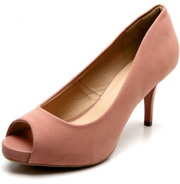 Peep Toe Facinelli by MOONCITY Liso Rosa Facinelli by MOONC