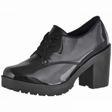 Bota Cano Curto Verniz DR Shoes Preto DR Shoes