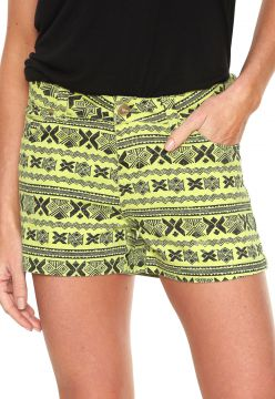 Short Sarja B Joe Estampado Verde/Preto B Joe