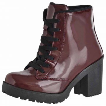 Bota Cano Curto Verniz DR Shoes Bordo DR Shoes