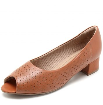 Peep Toe Piccadilly Perfuros Caramelo Piccadilly