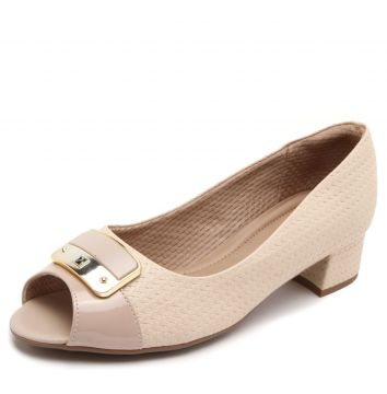 Peep Toe Piccadilly Detalhe Nude Piccadilly