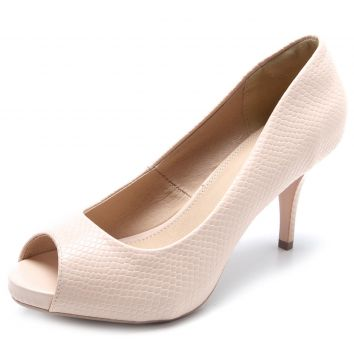 Peep Toe Facinelli by MOONCITY Liso Nude Facinelli by MOONC