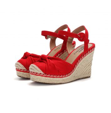 Espadrille Connect Shoes Anabela Vermelho Connect Shoes