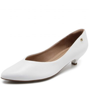 Scarpin Piccadilly Liso Branco Piccadilly