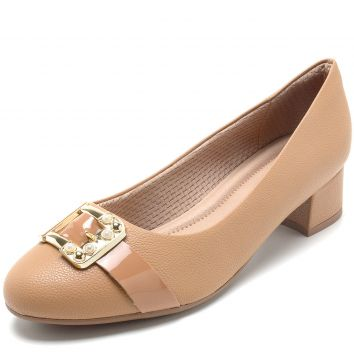 Scarpin Piccadilly Fivela Bege Piccadilly