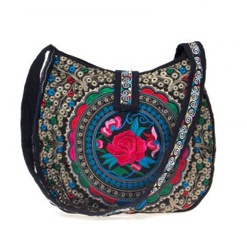 Bolsa Transversal Sneak Peek Flower Preto Sneak Peek