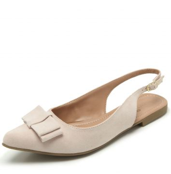 Sapatilha Thelure Slingback Bege Thelure