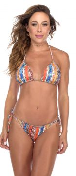 Biquíni Flavia Donadio Beachwear Ripple St Barth Estampado