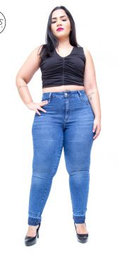 Calça Jeans Cambos Plus Size Skinny Byanca Azul Cambos