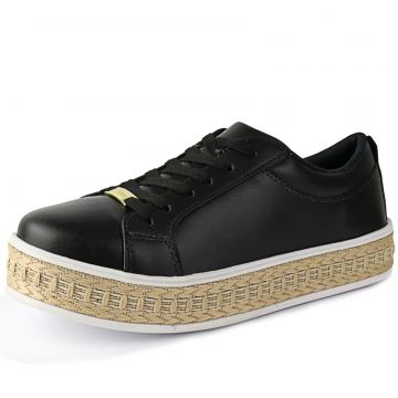 Tênis FlatForm CR Shoes Confortável Preto CR Shoes
