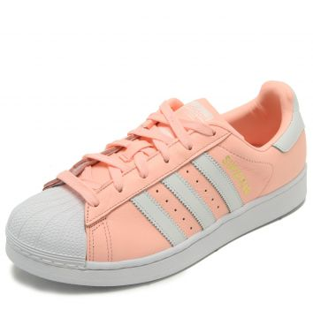 Tênis Couro adidas Originals Superstar W Rosa adidas Origin
