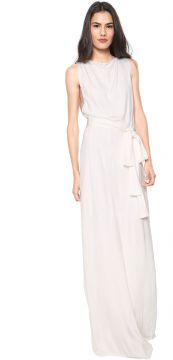 Vestido Forum Longo Liso Off-white Forum