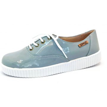Tênis Creeper Quality Shoes Jeans Verniz Sola Branca Qualit