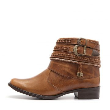 Bota Feminina Elite Country Alice Tabaco Mostarda Elite Cou