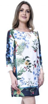 Kaftan 101 Resort Wear Vestido Floral Multicolor 101 Resort