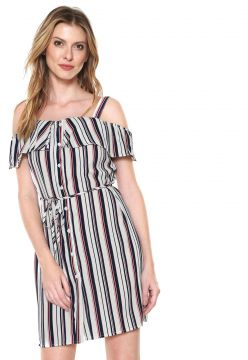 Vestido Lily Fashion Curto Ciganinha Off-white Lily Fashion