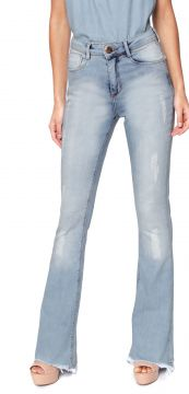 Calça Jeans Planet Girls Flare Destroyed Azul Planet Girls