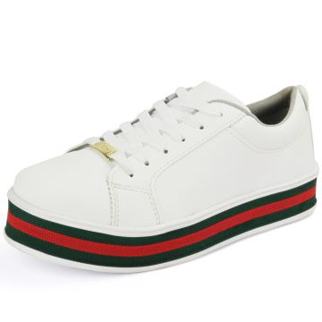 Tênis CR Shoes Flatform Confort Branco Listre CR Shoes