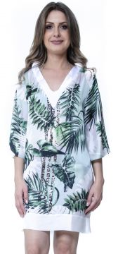 Kaftan 101 Resort Wear Vestido Estampado Verde 101 Resort W