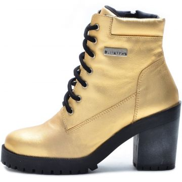 Bota Coturno Atron Shoes 9404 Dourada Atron Shoes