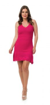 Vestido Pink Tricot Curto Pink Pink Tricot