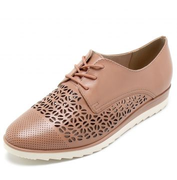 Oxford Couro Bottero Lasercut Nude Bottero