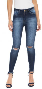 Calça Jeans Planet Girls Skinny Assimétrica Azul Planet Gir