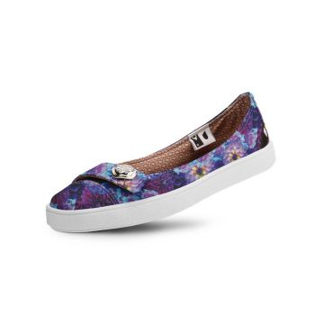 Sapatilha Usthemp Womanly Vegano Casual Estampa Floral Roxo