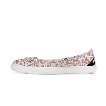Sapatilha Usthemp Womanly Vegano Casual Flowers Red Branco