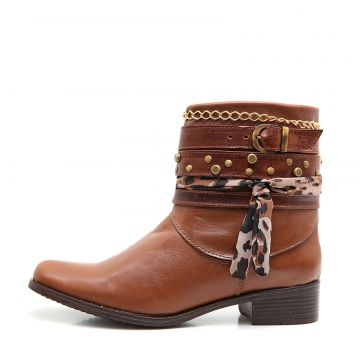 Bota Elite Country Sabine Fossil Linhaca Tabaco Elite Count