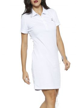 Vestido Polo Factory Minivest Summer School Bat Branco Polo