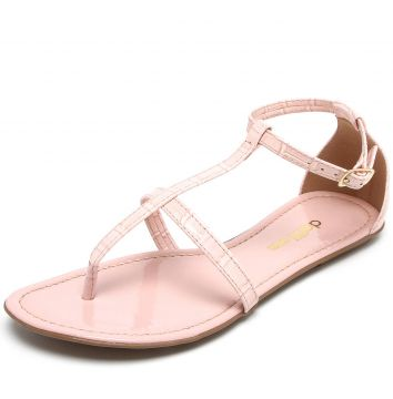 1e9ab77d9d Rasteira DAFITI SHOES Croco Rosa DAFITI SHOES