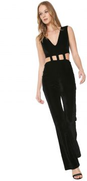 Macacão Planet Girls Bootcut Veludo Preto Planet Girls