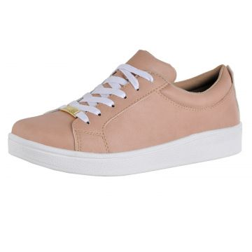 Tênis Plataforma Flatform CR Shoes Feminino Bege CR Shoes