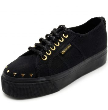 Tênis Superga Cot Jewel Preto Superga