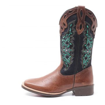 Bota Elite Country Dilley Fossil Tabaco Marinho Elite Count