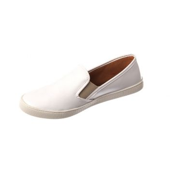 Slip On Casual Butique de Sapatos Napa Branco Butique de Sa