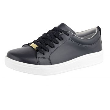 Tênis Plataforma Flatform CR Shoes Feminino Preto CR Shoes
