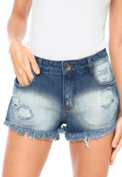 Short Jeans My Favorite Thing(s) Bordado Azul My Favorite T