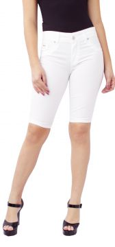 Bermuda Ciclista Young Style Jeans Sarja Branco Young Style