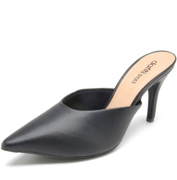 Mule DAFITI SHOES Napa Preto DAFITI SHOES