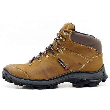 Bota Adventure Para Trilha Atron Shoes Bege Atron Shoes