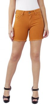 Bermuda Young Style Jeans Meia Coxa Sarja Camel Young Style