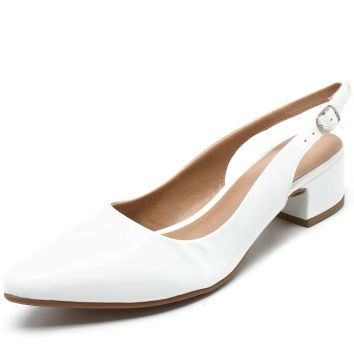 Scarpin DAFITI SHOES Verniz Branco DAFITI SHOES