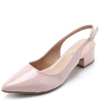 Scarpin DAFITI SHOES Dorsay Nude DAFITI SHOES