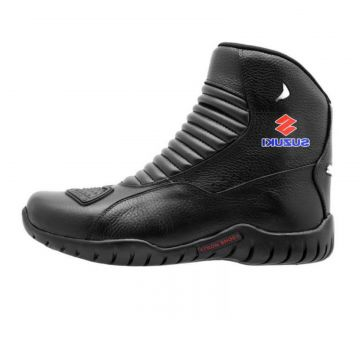 Bota Motociclista Suzuki Atron Shoes Preto Atron Shoes
